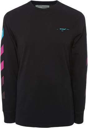 Off-White Gradient Logo Long Sleeve T-Shirt