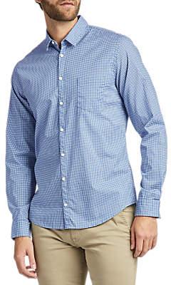 HUGO BOSS BOSS Erum Patterened Long Sleeve Slim Fit Shirt, Dark Blue