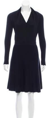 Paule Ka Wool A-Line Dress