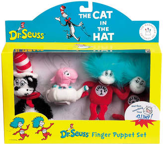 Dr. Seuss Manhattan Toy Cat In The Hat Boxed Finger Puppet Set