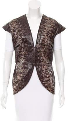 Zero Maria Cornejo Embossed Leather Vest