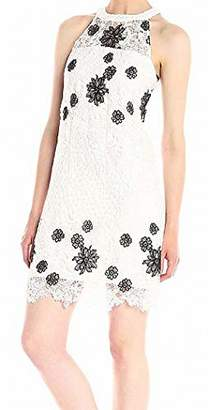 GUESS Women's Floral Lace Halter Dress