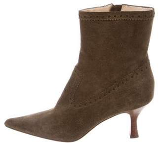 Michael Kors Suede Pointed-Toe Ankle Boots