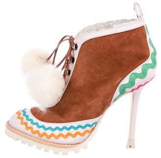 Sophia Webster Suede Lace-Up Booties
