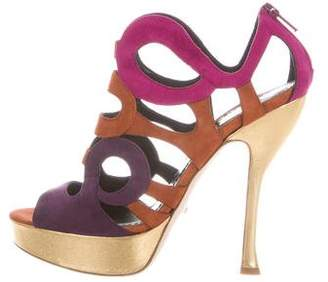 Jerome C. Rousseau Multicolor Cage Sandals