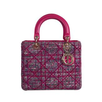 Christian Dior Lady tweed handbag