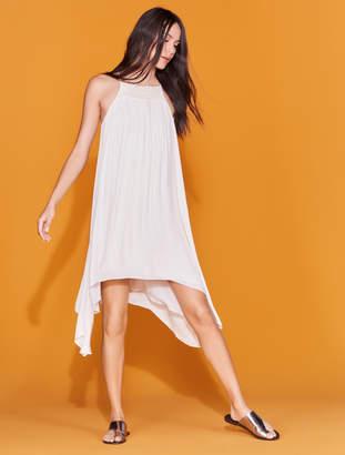Halston Smocked High Neck Dress