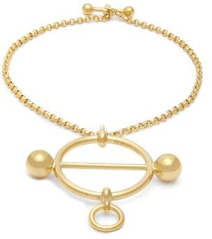 J.W.Anderson Disc Chain Bracelet - Womens - Gold