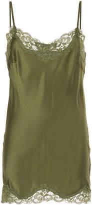 Gold Hawk lace insert top