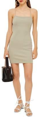 Topshop Scuba Strappy Minidress