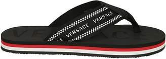 Versace Embossed Logo Slippers