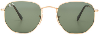 Ray-Ban Hexagonal Flat Lens $175 thestylecure.com