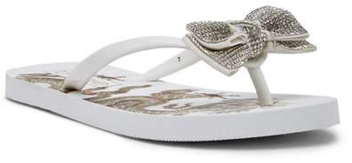 bebe Addie Crystal Bow Flip Flop