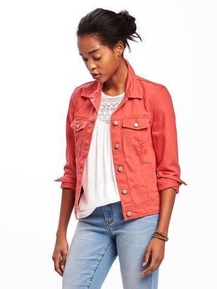 Pop-Color Denim Jacket for Women $34.94 thestylecure.com