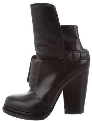 Alexander Wang Leather Lace-Up Ankle Boots
