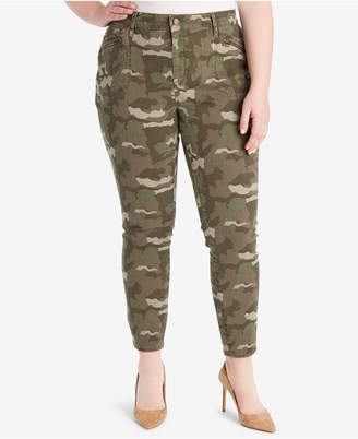 William Rast Plus Size Camo-Print Cargo Pants