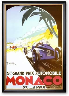 "Art.com 5th Grand Prix Automobile, Monaco, 1933"" Framed Art Print by Geo Ham"