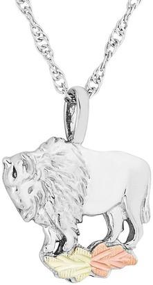 Buffalo David Bitton Black Hills Pendant with Chain Sterling, 12K Gold