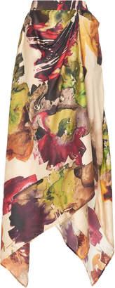 Co Printed Handkerchief Silk Skirt Size: XS