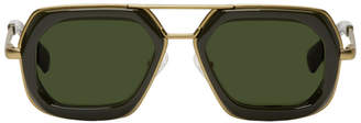 Dries Van Noten Green and Gold 173 C4 Sunglasses