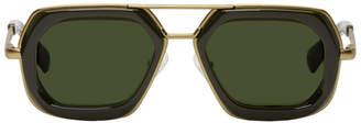 Dries Van Noten Green and Gold 173 C4 Sunglasses