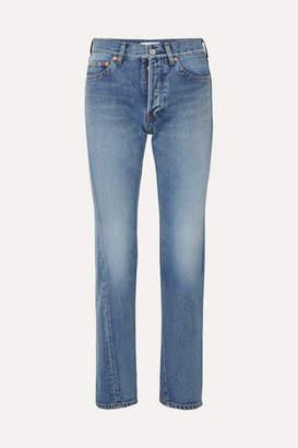 Balenciaga Twisted High-rise Straight-leg Jeans - Mid denim
