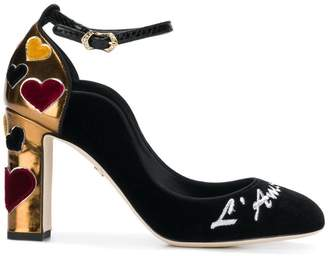Dolce & Gabbana Vally velvet pumps with embroidery