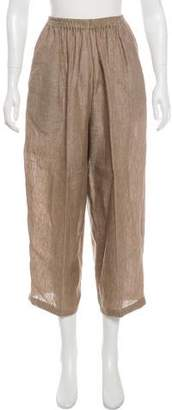 eskandar Linen High-Rise Wide-Leg Pants