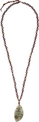 Chan Luu Women's Taupe Pearl and Pendant Necklace