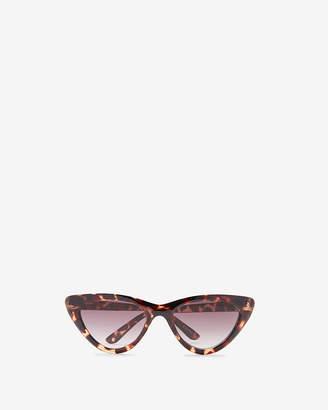 Express Tortoiseshell Extreme Cat Eye Sunglasses