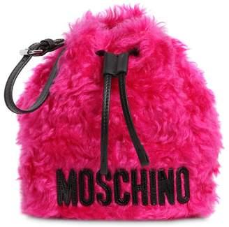 Moschino Bucket Mohair Pouch