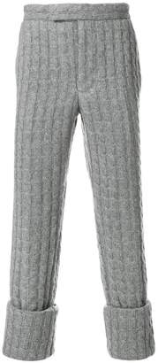 Thom Browne Baby Cable Cashmere Classic Backstrap Trouser