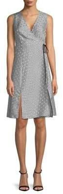 Diane von Furstenberg Printed Wrapped Silk Dress