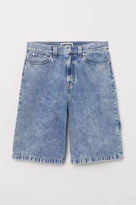 H&M Loose Fit Denim Shorts - Blue