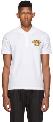 Versace White Big Medusa Polo