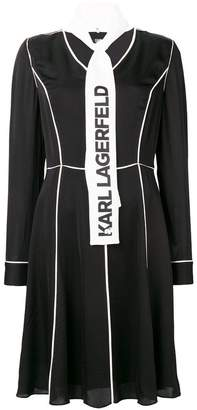 Karl Lagerfeld logo scarf midi dress