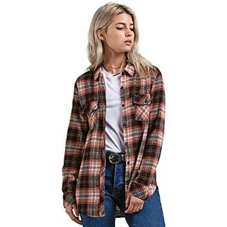 Volcom Junior's Getting Rad Plaid Relaxed Fit Long Sleeve Flannel Shirt