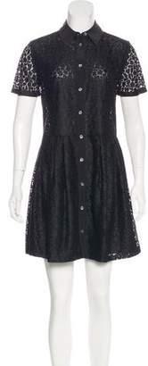 Equipment Short Sleeve Lace Dress