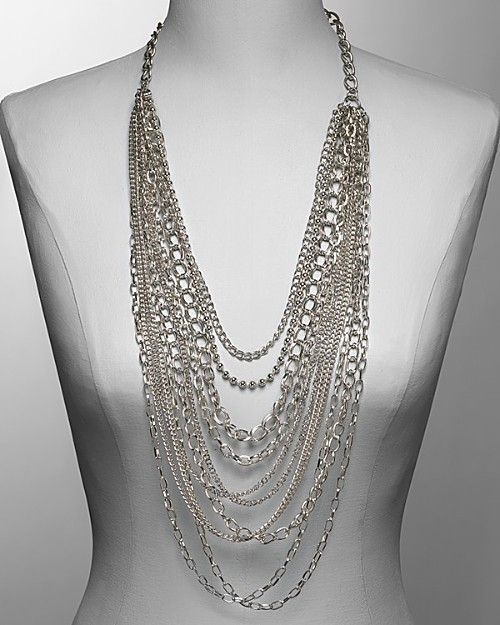 Cara Couture NY Women's Large Multi Chain Necklace