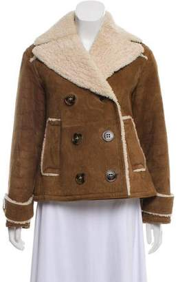 Burberry Double-Breasted Shearling Jacket