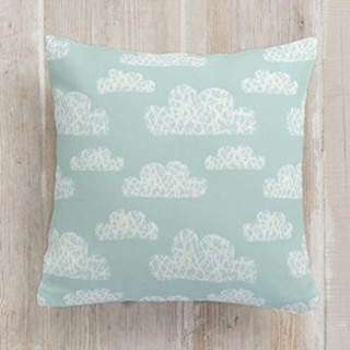 Hashmark Clouds Square Pillow