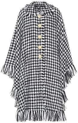 Dolce & Gabbana Houndstooth wool-blend cape