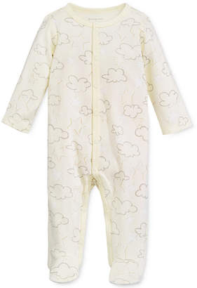First Impressions 1-Pc. Cloud-Print Footed Coverall, Baby Boys & Girls, Created for Macy's