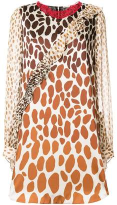 Marco De Vincenzo giraffe print mini dress