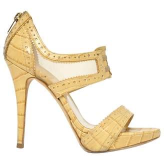 Christian Dior Beige Leather Sandals