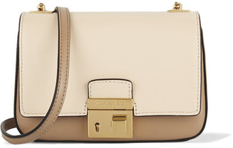 Michael Kors Collection - Gia Small Two-tone Leather Shoulder Bag - Ecru $590 thestylecure.com
