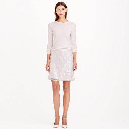 J.Crew Collection beaded fringe skirt