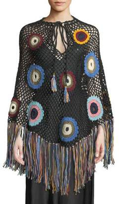Talitha Collection Hand-Crochet Fringe Poncho