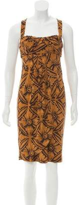 Diane von Furstenberg Sleeveless Printed Dress w/ Tags