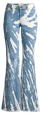Alice + Olivia Jeans Jeans Women's Beautiful Tie-Dye Bell Bottom Jeans